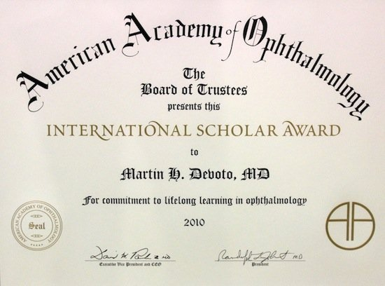International Scholar Award 2010