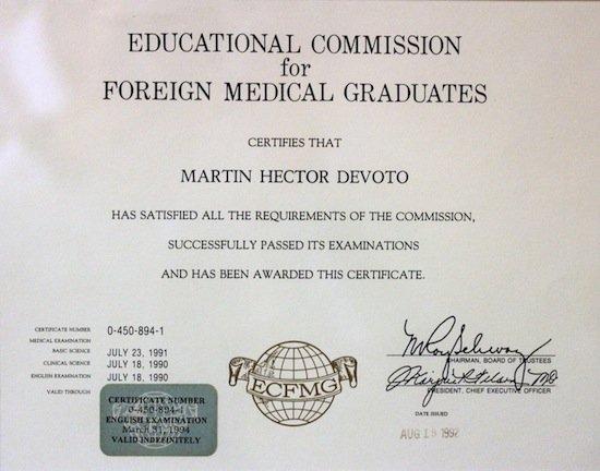 Reválida del Título de Médico para EE.UU.
