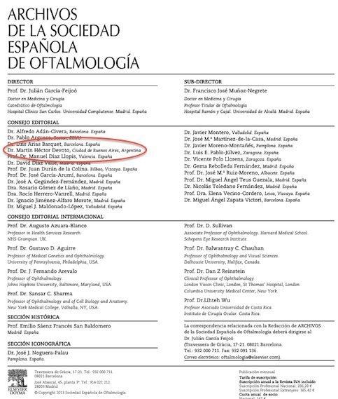 Sociedad Espanola de Oftalomogia